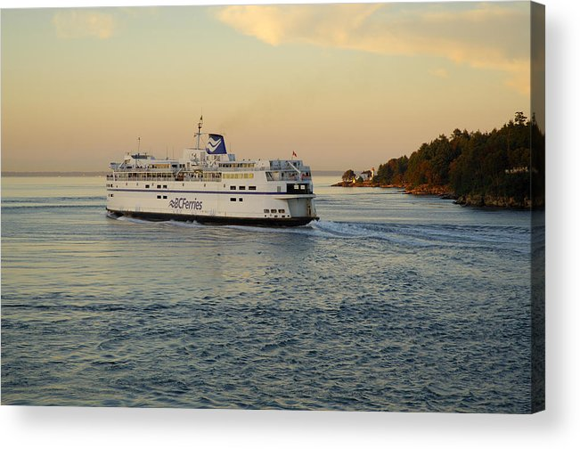 Gulf Islands Acrylic Print featuring the photograph Bc Ferry by Kevin Oke