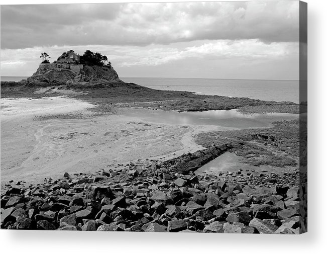 Anse Du Guesclin Acrylic Print featuring the photograph Beach At Low Tide In Brittany by Sami Sarkis