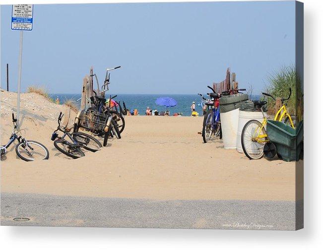 Beach Acrylic Print featuring the photograph Beach Bikes 5832 by PhotohogDesigns