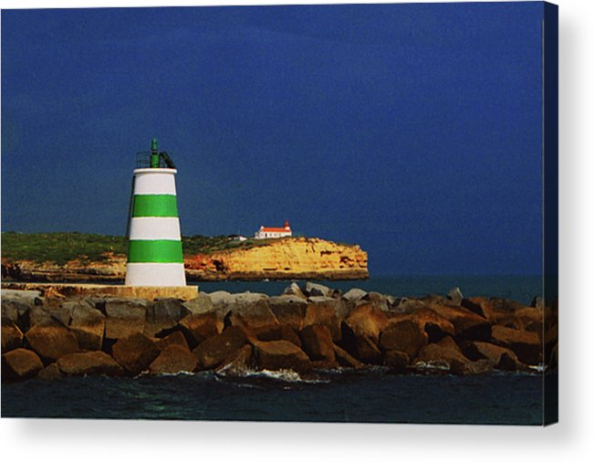 Lighthouse Acrylic Print featuring the photograph Beacon For Storms A Comin' by Rianna Stackhouse