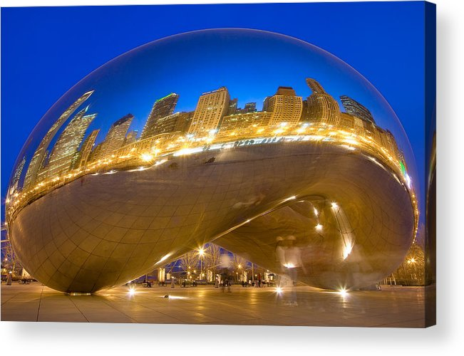 Chicago Acrylic Print featuring the photograph Bean Reflections by Donald Schwartz