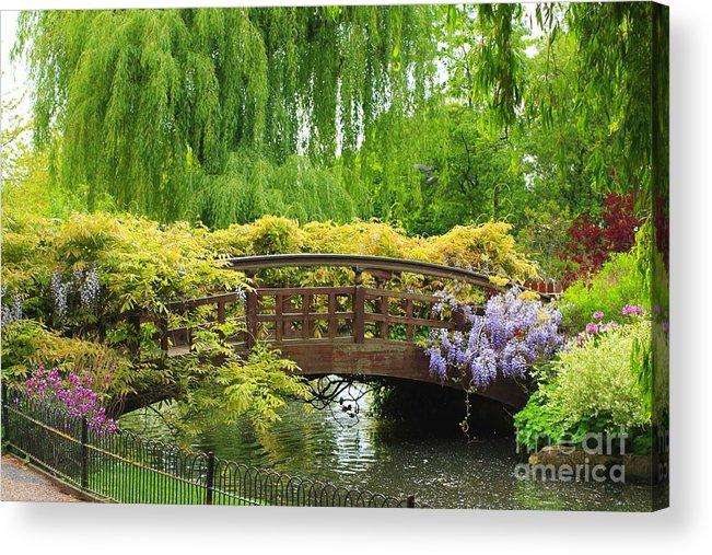 Beautiful Acrylic Print featuring the photograph Beautiful Garden Art by Boon Mee