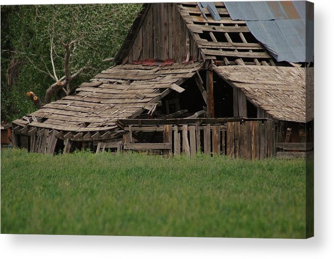 Barns Acrylic Print featuring the photograph Beauty In The Breaking by Lori Mellen-Pagliaro