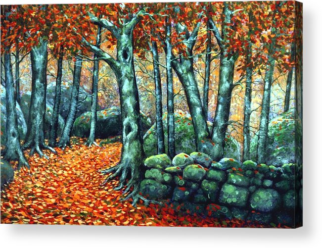 Landscape Acrylic Print featuring the painting Beech Woods by Frank Wilson