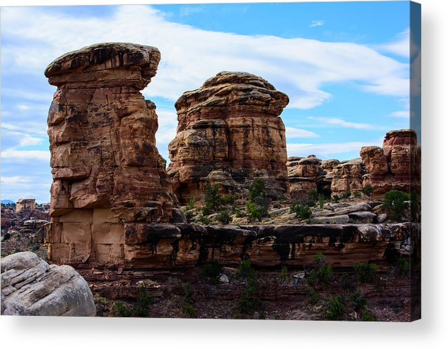 Landscape Acrylic Print featuring the photograph Beginning Of The Slick Rock Trail by Tikvah's Hope