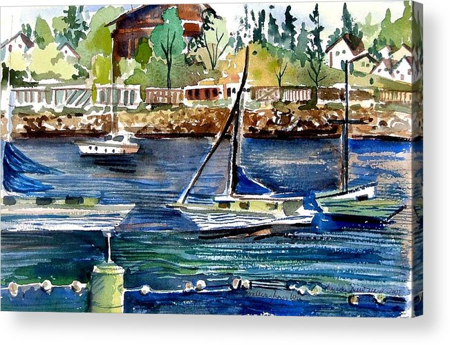 Bellingham Acrylic Print featuring the painting Bellingham Washington The Beauty by Mindy Newman