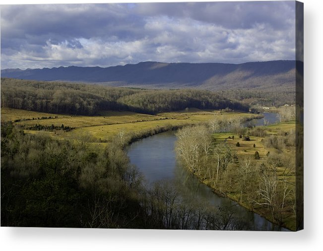 Nature Acrylic Print featuring the photograph Bend In The River by John Ellis