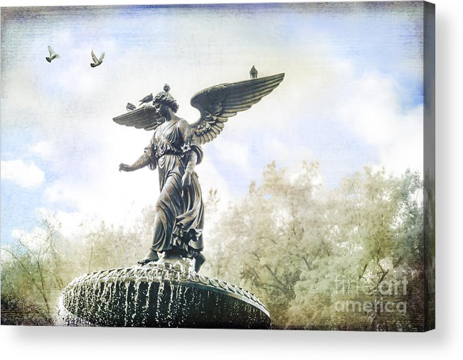 Bethesda Acrylic Print featuring the photograph Bethesda Angel by Stacey Granger