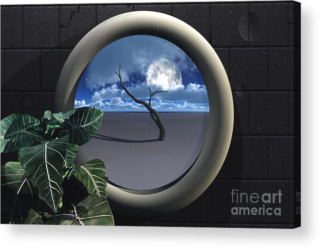 Walls Acrylic Print featuring the digital art Beyond Walls by Richard Rizzo
