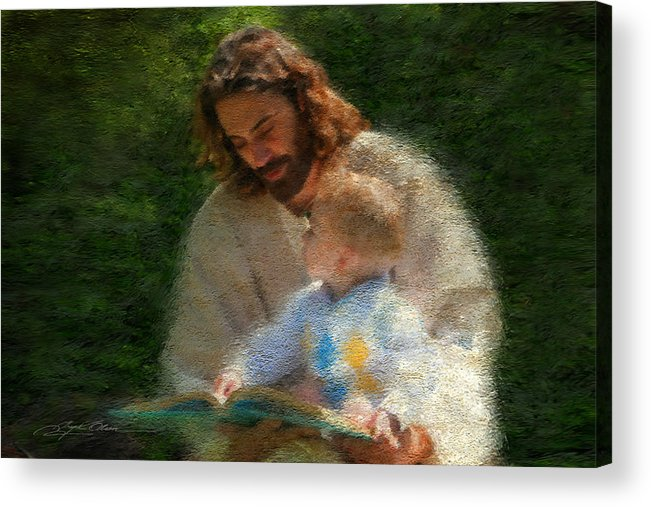 Jesus Acrylic Print featuring the painting Bible Stories by Greg Olsen