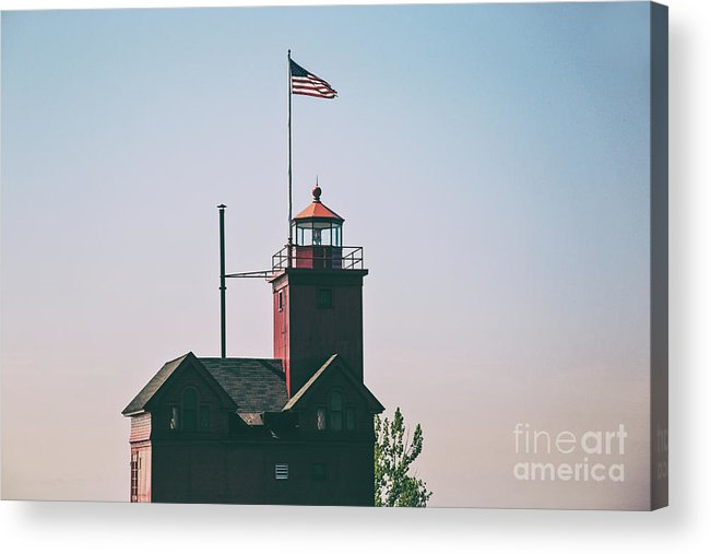Lighthouse Acrylic Print featuring the photograph Big Red Lighthouse by Scott Pellegrin