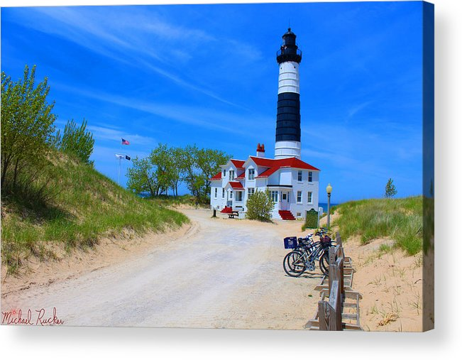 Lighthouse Acrylic Print featuring the photograph Big Sable Point Lighthouse by Michael Rucker