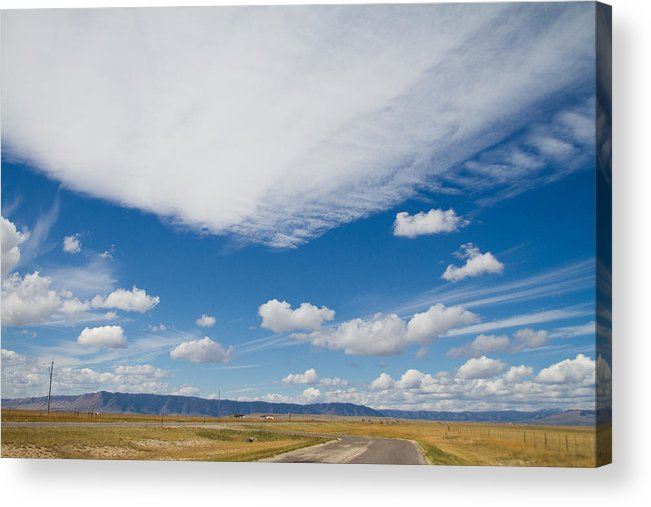 Wyoming Sky Acrylic Print featuring the photograph Big Sky Of Wyoming by John Vial