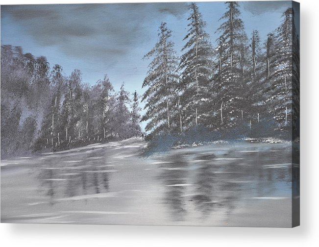 Landscaped Acrylic Print featuring the painting Black And White by Albert Douglas