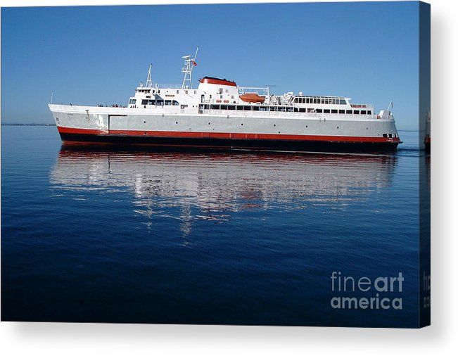 Boat Acrylic Print featuring the photograph Black Ball Ferry by Larry Keahey