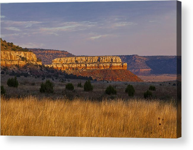 Black Mesa Acrylic Print featuring the photograph Black Mesa Sunrise by Charles Warren