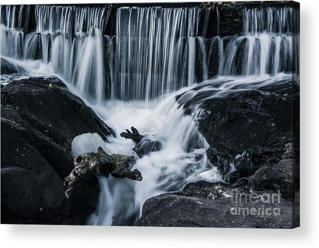 Waterfall Acrylic Print featuring the photograph Blackstone Falls by Alicia Heaney