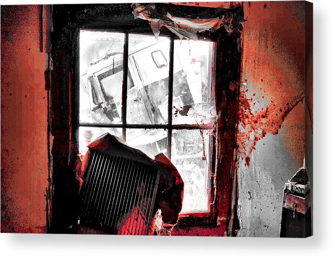 House Acrylic Print featuring the photograph Bloody Walls by Harrison Hanville