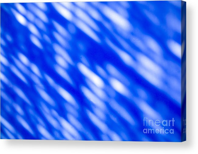 Abstract Acrylic Print featuring the photograph Blue Abstract 1 by Tony Cordoza