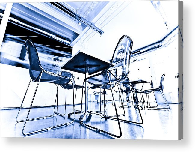 Blue Acrylic Print featuring the photograph Blue Chair by Nelson Mineiro