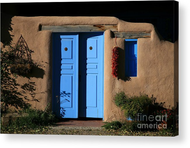 Doors Acrylic Print featuring the photograph Blue Doors by Timothy Johnson