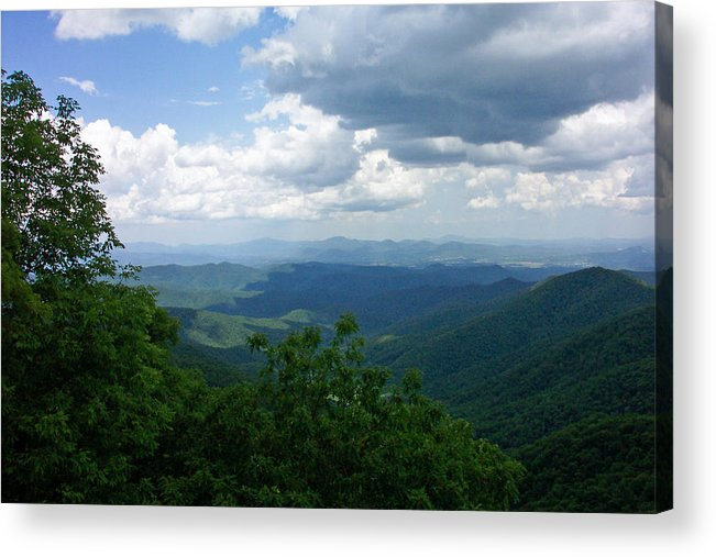 Blue Ridge Parkway Acrylic Print featuring the photograph Blue Ridge by Patricia Motley