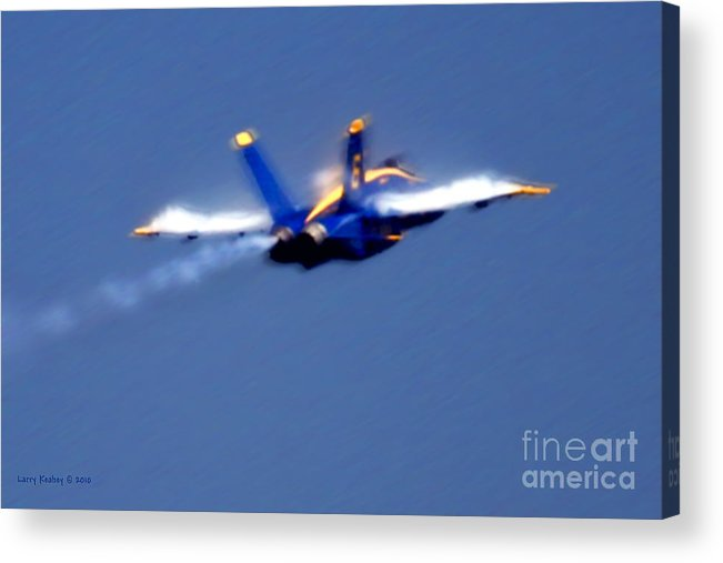 Blue Angles Acrylic Print featuring the photograph Blue Solo by Larry Keahey