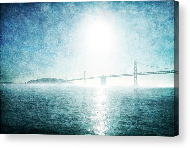 Acrylic Print featuring the photograph Blue Water Bridge by Guy Crittenden