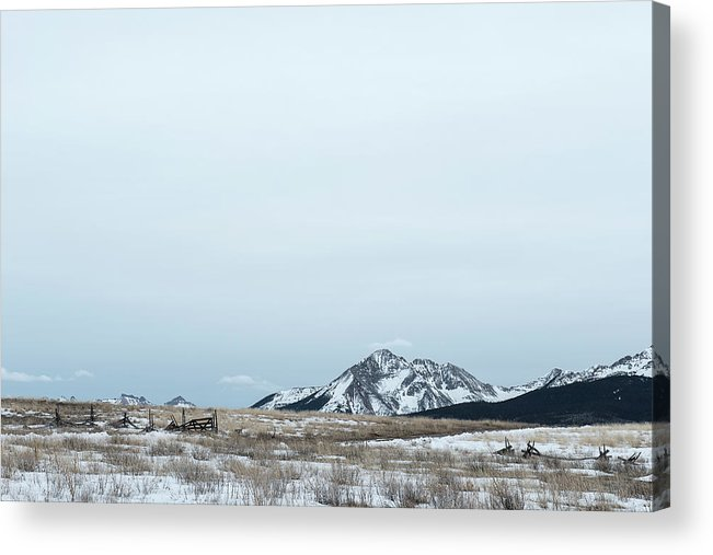 Colorado Mountains Acrylic Print featuring the photograph Blue Winter by Angela Moyer