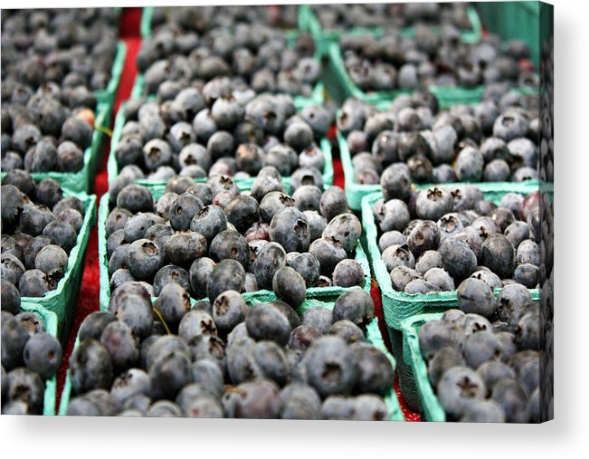 Blueberries Acrylic Print featuring the photograph Blueberries by Cathie Tyler