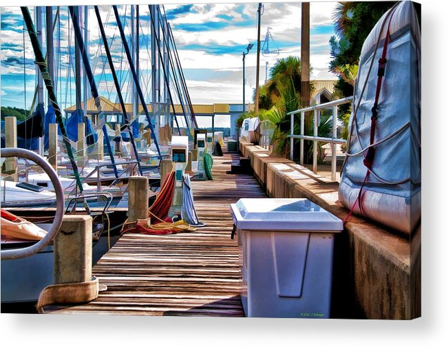 Boats Acrylic Print featuring the photograph Boat Dock by Deborah