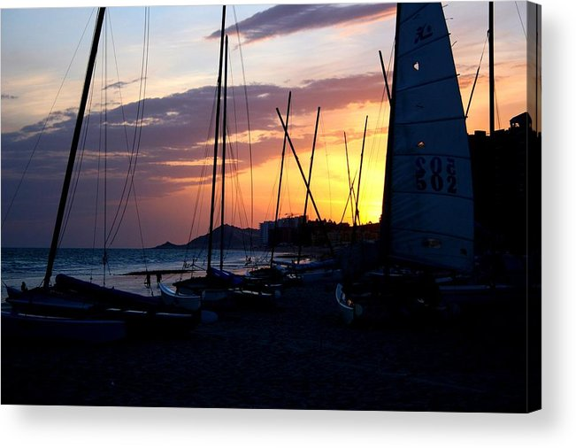 Boats Acrylic Print featuring the photograph Boats At Rest by Bob Gardner