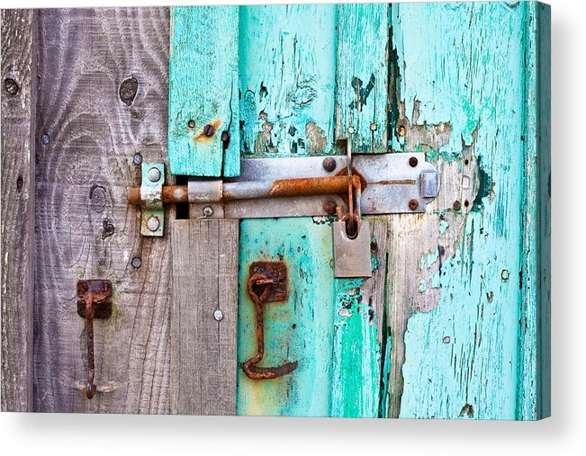 Area Acrylic Print featuring the photograph Bolted Door by Tom Gowanlock