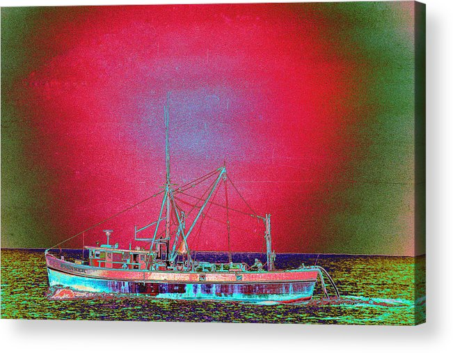 Fishing Boat Acrylic Print featuring the photograph Bonaker by Richard Henne