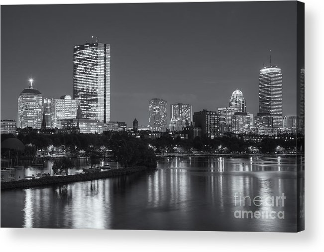 Clarence Holmes Acrylic Print featuring the photograph Boston Night Skyline V by Clarence Holmes