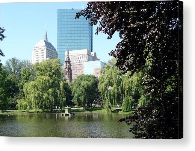 Garden Acrylic Print featuring the photograph Boston Public Garden by Kathy Schumann