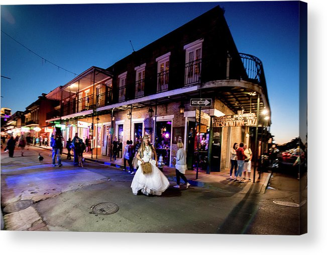 Acrylic Print featuring the photograph Boubon Bride - New Orleans by Michael Rivera
