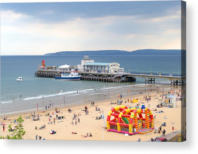 Bournemouth Acrylic Print featuring the photograph Bournemouth Pier And Beach by Chris Day