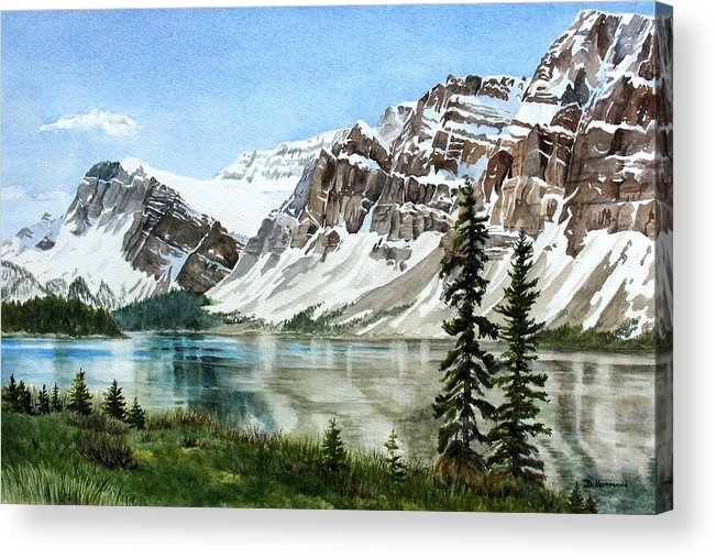 Bow Lake Acrylic Print featuring the painting Bow Lake Alberta No.2 by Debbie Homewood