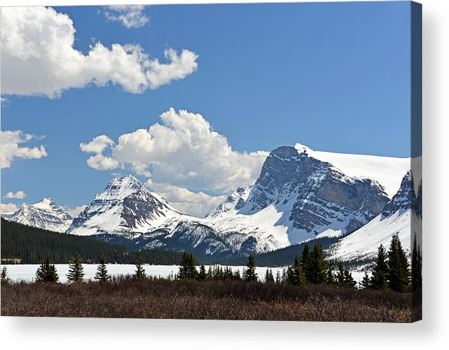 Bow Lake Acrylic Print featuring the photograph Bow Lake Vista by Ginny Barklow