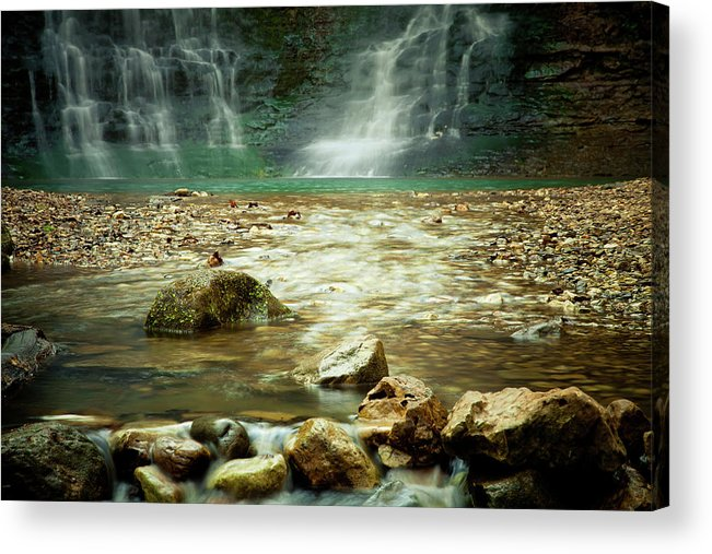 Landscape Acrylic Print featuring the photograph Break Of Silence by Iris Greenwell