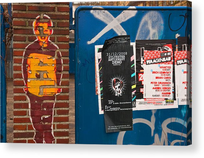 Graffiti Acrylic Print featuring the photograph Brian Cares by Art Ferrier