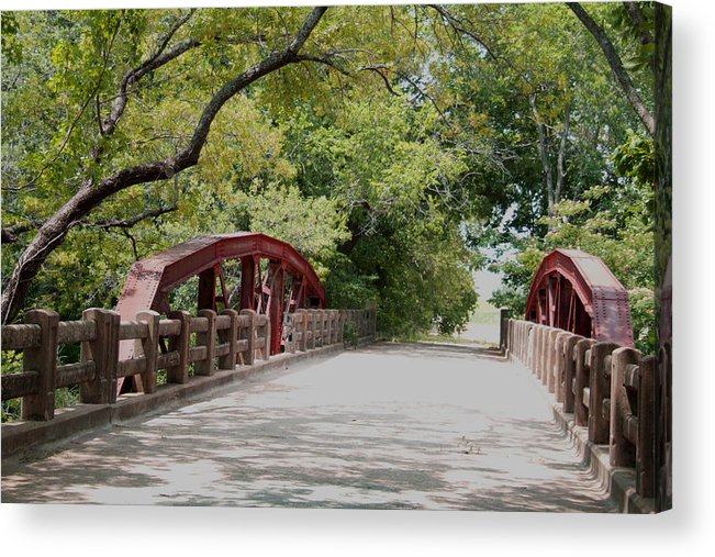 Landscape Acrylic Print featuring the photograph Bridge 1 by Chuck Shafer