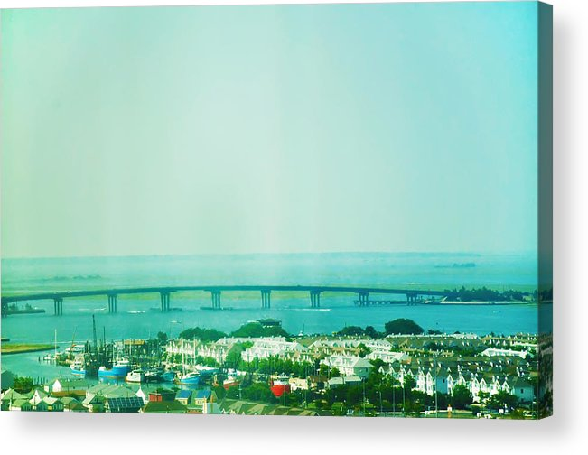 Brigantine Acrylic Print featuring the photograph Brigantine Bridge - New Jersey by Bill Cannon