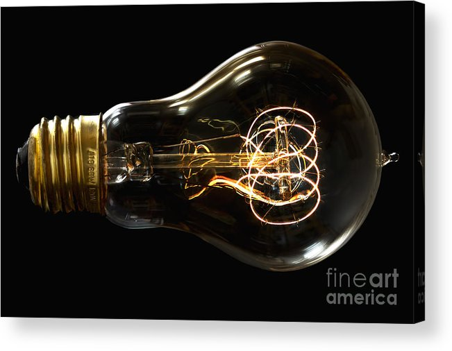 Bulb Acrylic Print featuring the photograph Bright Idea by Mark Miller