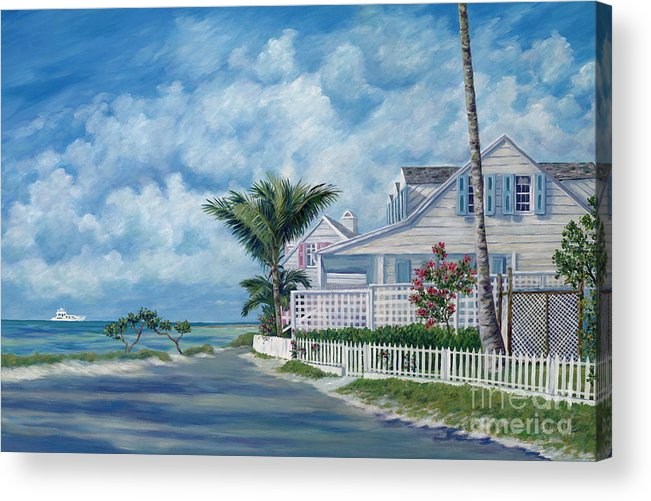 Harbor Island Acrylic Print featuring the painting Briland Breeze by Danielle Perry