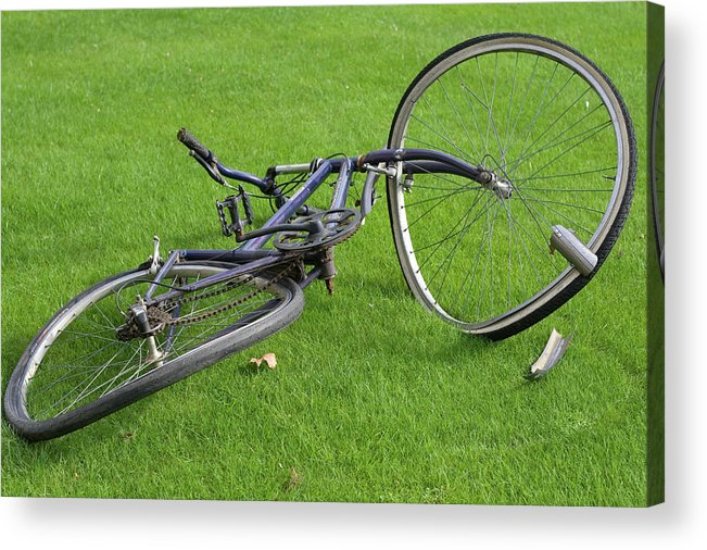 Bike Acrylic Print featuring the photograph Broken Bike by Carl Purcell