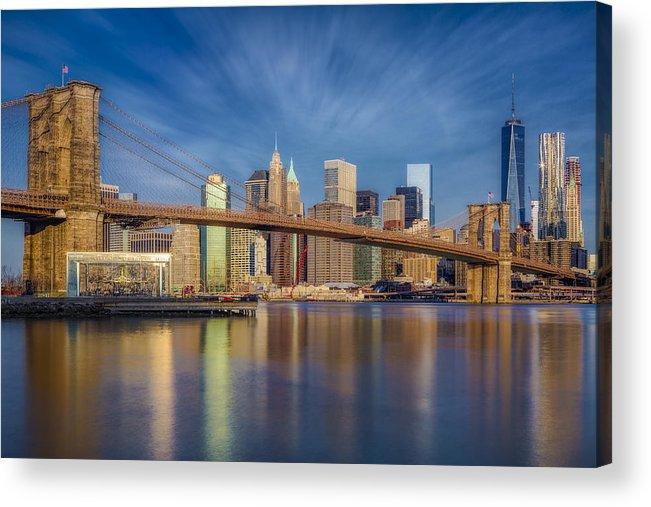 Brooklyn Bridge Acrylic Print featuring the photograph Brooklyn Bridge From Dumbo by Susan Candelario