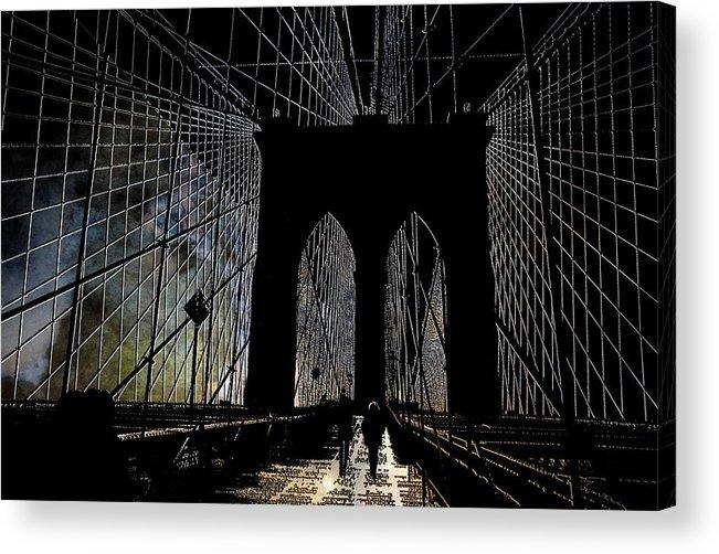 Brooklyn Acrylic Print featuring the photograph Brooklyn Gateway by Jeff Watts
