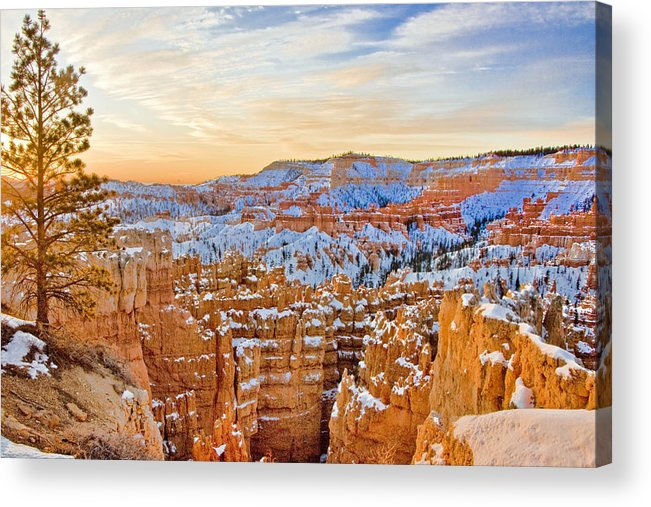 West Acrylic Print featuring the photograph Bryce Canyon Sunset by Ches Black